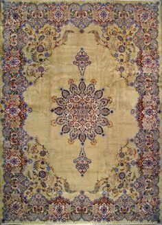 """Kashan Persian Rug, Buy Handmade Kashan Persian Rug 9' 11"""" x 13' 7"""", Authentic Persian Rug"""
