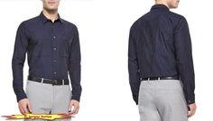 THEORY Men 'Spencer Bidasar' Tonal Camo Print Sport Shirts in Deep Navy Blue NWT #Theory #ButtonFront