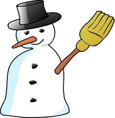Snowman Hat Broom Carrot Stick Transparent Image