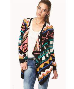 Look chaqueta punto tribal de kaleidoskopic.