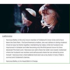 Narcissa, a mother, a wife, a witch.