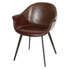 de bongerd 240,- Kuipstoel Bruin Leer Leather Dining Chairs, Take A Seat, Dining Room, Furniture, Home Decor, Lifestyle, Chairs, Dinner Room, Bedroom