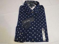 Tommy Hilfiger dress shirt long sleeve 7839335 Port Blue 401 slim fit  L Mens #TommyHilfiger #ButtonFront