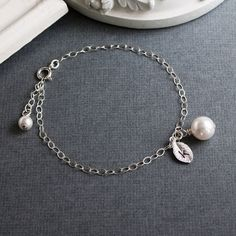 Personalized Sterling Silver Jewelry  Pearl and by MenuetDesigns, $22.50
