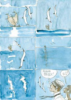 "New Ireland ""J'avais un rendez-vous"", 1994 Hugo Pratt Tina Modotti, Lucky Luke, Illustrations, Illustration Art, Paolo Conte, Hugo Pratt, Book Creator, Bd Comics, Gesture Drawing"