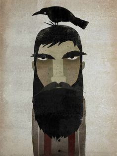 Lumberjack and crow