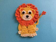 Finished crochet lion landscape