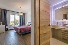 """Bedroom """"Butterfly"""" - Luxury, modern, large bedroom with top sea view. Few click and you will be here: Adriatic Sea, Large Bedroom, Winter Holidays, Bedrooms, Villa, Butterfly, Luxury, Modern, Summer"""