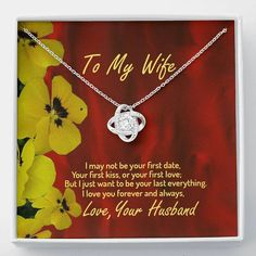 To My Wife Necklace, 14K Love Knot necklace, Husband To Wife, Gift For – Shiny Jewelry Charm