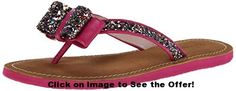 kate spade new york Women's Icarda Flip Flop, Multi Glitter/Deep Pink Nappa, M US. Thong sandal featuring double-loop bow at toe post with chunky glitter fill. Black Suede Pumps, Black Sandals, Women's Shoes Sandals, Women Sandals, Shoes Women, Glitter Flip Flops, Flip Flop Socks, Heeled Loafers, Womens Flip Flops