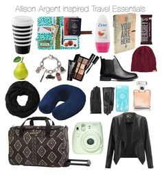 """""""Teen Wolf - Allison Argent Inspired Travel Essentials"""" by staystronng ❤ liked on Polyvore featuring Disaster Designs, Smashbox, American Tourister, Billabong, Chanel, H&M, Lipsy, Designers Remix, Subtle Luxury and RVCA"""