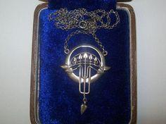 Fine Art Nouveau Genuine Jugendstil German Sterling Silver Pendant and Chain   eBay
