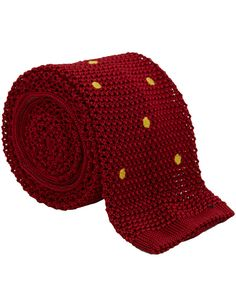 NICK BRONSON RED WITH YELLOW - POLKA DOT KNIT SILK TIE http://www.liberty.co.uk/fcp/product/Liberty//Red-Polka-Dot-Knit-Silk-Tie-/109045