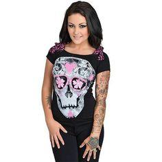 4626a4e204dba4 Girlie Slull Tee Skull Clothes