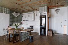 Трёхкомнатная квартира виндустриальном стиле. Изображение №2.