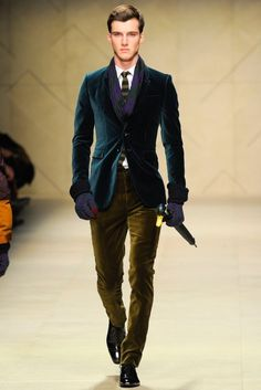Burberry Mens Fall Collection 2012... Amazing Texture Combination