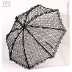 Kanten Paraplu, Zwart