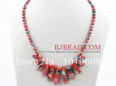 Fashion Women Fan Shape Red Color Taiwan Women Turquoise Necklace