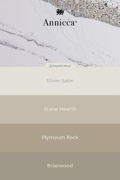 What paint colors should you choose with your kitchen countertops? Annicca from Cambria quartz pairs beautifully with greige paints and offers an elegant marble look with gray veining, hints of gold, and purple sparkle. Cambria Quartz Countertops, Diy Countertops, Outdoor Kitchen Countertops, Kitchen Countertop Materials, Home Design, Interior Design, Interior Ideas, Interior Sketch, Interior Decorating