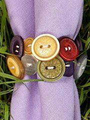 Provence Button Napkin Ring Set/4