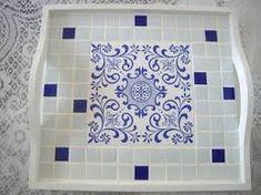 Resultado de imagen para bandeja em mosaico
