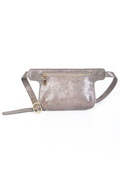 * Multi Toned Unique Fanny Pack * Mixed Metal Color, Vegan Leather Materials Weight 0.41 lbs