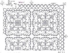World crochet: curtain