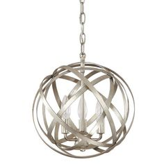 This 3-light orb pendant features a gorgeous winter gold finish. The globe design presents an interesting fusion of traditional and modern styling and is one of our most popular fixtures.