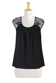 http://www.eshakti.com/Product/CL0033073/Floral-embellished-cotton-knit-tee