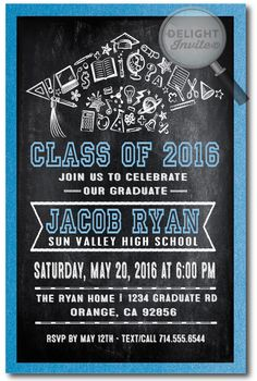 Graduation Party Invitations for Him or Her Party invitations