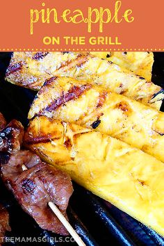 Pineapple on the Grill - I have done this before adding butter and cinnamon along with the brown sugar.  Heavenly!