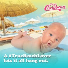 A #TrueBeachLover lets it all hang out. #CheapCaribbean