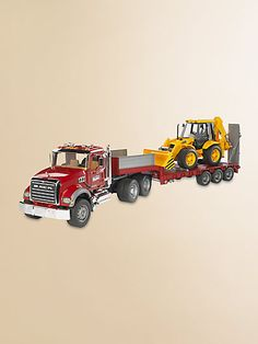 TOY CAR TOY TRACTOR AND TRAILER SET BOY GIRL BROTHER BIRTHDAY GIFT PRESENT NEW