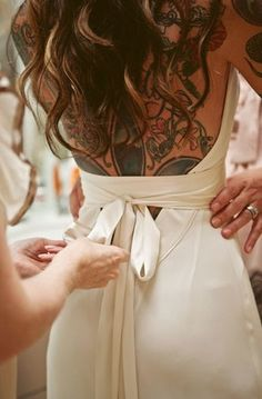 Back tattoo bride