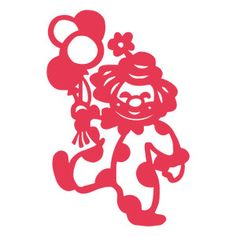Silhouette Design Store: happy clown balloons