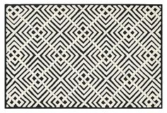 Malibu Rug, Black/White on OneKingsLane.com
