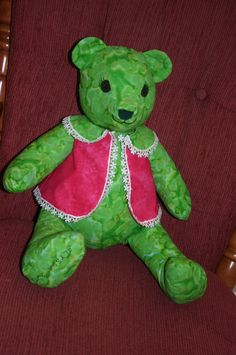 It took me 2 days but, I got this little bear done. A birthday bear for a little girl I take care of