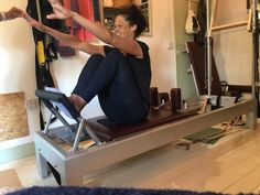 I LOVE the reformer; particularly for The Stomach Massage Exercise, as it stretches and lengthens the lower back, deepens your abdominal muscle engagement and lifts your powerhouse, stretching and lengthening the legs. And the cherry on the top?? 🍰 It prepares the body for your Rolling Like a Ball on your mat workout as well as your stomach series! So...still thinking 🤔 about getting yourself on that Reformer???