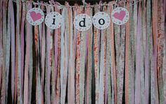 Fabric Backdrop Streamer Backdrop Shabby by partypaperscissors Streamer Backdrop, Paper Streamers, Fabric Backdrop, Photo Booth Backdrop, Sweet 16 Themes, Sweet Ideas, How To Make Banners, Rainbow Balloons, Fabric Strips