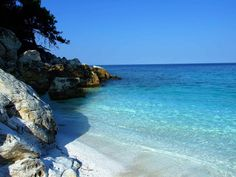 Pictures of Greece | Beaches of Thassos, Tassos, Greece, Marble Beach . Thassos is in North Greece below Kavala.