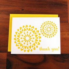 Medallion Thank You Cards