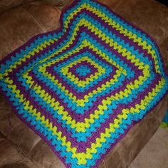 Making great progress on this blanket for my bestie/sister-in-law @ginger.daniel.90  #forsomeonespecial #sisterlove #family #sisterinlaw #bff #blessed #thankfulforher #blessed #truefriendship #friendship #lovethisgirl #crochetblanket #colorful #handmade #crochet #blanket #cozy #color #warm by kendall.emilys.mom
