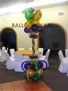 Mardi gras balloon columns