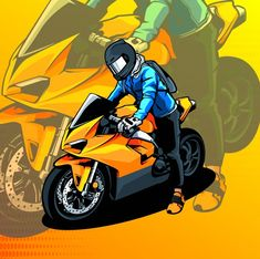 Discover the best Vectors, Photos & PSD files from Zauri - Free Graphic Resources for personal and commercial use Motorcross Bike, Motorcycle Decals, Motorbike Design, Automotive Logo, Neon Wallpaper, Cartoon People, Bike Art, Vector Photo, Sport Bikes