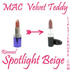MAC Velvet Teddy dupe Rimmel Spotlight Beige  #dupe #dupes #MACdupe #MAC www.lipstickdupe.com