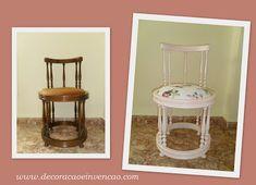 Cadeira saindo do forno - *Decoração e Invenção* Tinta Spray, Furniture Restoration, Frame, Table, Restoring Furniture, Home Decor, Ideas, Enamel Paint, Refinished Furniture