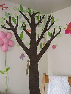 Fabric Tree & Birds Nursery Decor - Peek-a-Boo Pattern Shop: The Blog