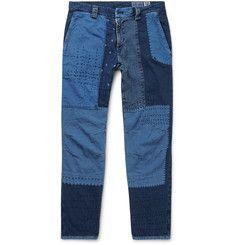 Blue Blue Japan - Slim-Fit Patchwork Cotton Trousers
