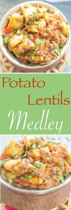Potato Lentils Medley With Dijon Dressing No EXOTIC SPICES REQUIRED! A simple potato lentils meal made with simple everyday ingredients. Perfect vegan lunch or dinner meal… Vegan Vegetarian, Vegetarian Recipes, Healthy Recipes, Vegan Food, Healthy Snacks, Whole Food Recipes, Dinner Recipes, Cooking Recipes, Lentil Recipes
