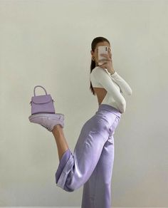 Lila Outfits, Purple Outfits, Neue Outfits, Cute Casual Outfits, Insta Outfits, Pastel Outfit, Instagram Outfits, Outfits For Photoshoot, Rock Outfits